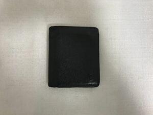 本物ルイヴィトンLVタイガ二つ折りミニコンパクト財布サイフ札入れ黒ブラックメンズレディース旅行トラベルビジネススーツカードケース
