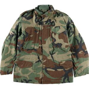 希少サイズ 84年納品 米軍実品 ウッドランドカモ 迷彩 M-65 ミリタリー フィールドジャケット USA製 SMALL REGULAR メンズM /eaa106870