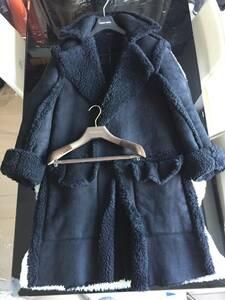 即決 定価60万円以上 GUCCI グッチ 最高峰モデル ロングムートンファーコート☆希少44サイズ ブラック