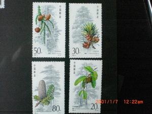 杉と種子の切手ー銀杉ほか 4種完 未使用 1992年 中共・新中国 VF/NH