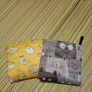 エコバッグ ぐでたま ネコ ショッピングバッグ ×2 折りたたみ コンパクト 2点セット