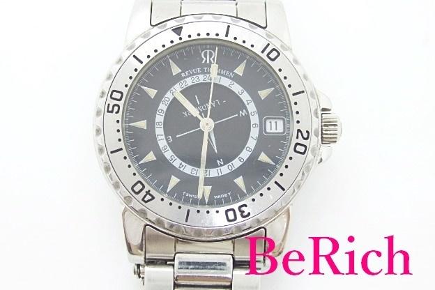 レビュー トーメン REVUE THOMMEN ランドマーク メンズ 腕時計 5817002 黒 文字盤 SS ブレス アナログ クォーツ ダイバーズ【中古】ht3572