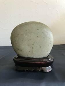 水石 盆石 珍品  鑑賞石 美石 飾り石  盆栽 天然石  台付き 置物