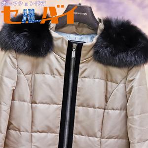 本物 極上品 フォクシーブティック 完売 超レア 39239 最高級フォックスファー毛皮ロングダウンコート サイズ42 ジャケット ブルゾン FOXEY