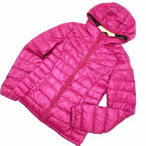 ■ユニクロ UNIQLO ピンク レディース プレミアム ウルトラライト ダウンジャケット Sサイズ 【最軽量♪防寒性十分♪】■CF28