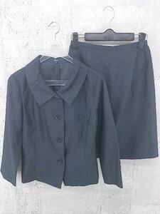 ◇ ROPE ロペ ミニ スカート スーツ セットアップ 上下 M ネイビー * 1002799207690