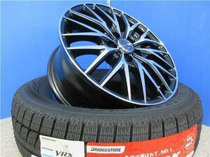 4本 新品 ブリジストン VRX 195/65R15 スタッドレス タイヤ ホイール セット ブラポリ PCD 100 CT ウィッシュ プリウス インプレッサ 新潟