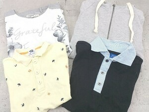 ■ BEAMS arnold palmer Cutie Blonde soulberry まとめ売り4点セット L&M&3サイズ ポロシャツ Tシャツ パーカー * 1002796569517