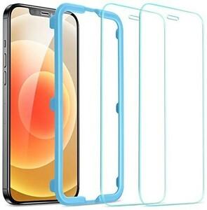 ESR iPhone12Pro Max 用 ガラスフィルム 2枚入り 強化ガラス ガイド枠付き 液晶保護フィルム 6.7インチ