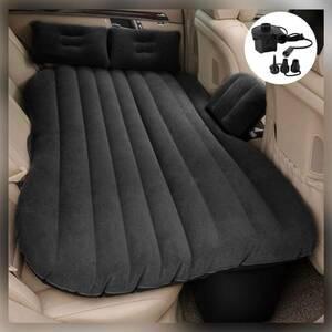 【車の後部座席があっという間に快適なベッドに早替り♪★ほぼ全ての車種に対応★電動ポンプ&枕2個付属の豪華セット】車中泊エアーベッド
