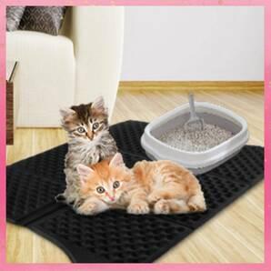 【ペットのトイレ掃除が簡単楽々♪★凹凸面で猫砂を絡めとる!★猫ちゃんの昼寝マットにも最適♪★柔らかく快適な寝心地】猫砂とりマット