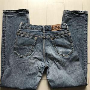 【即決】W31 Lee リー ライダース 裾チェーンステッチ仕様 脇割 ストレート ユーズド加工 30101 日本製 綿100%