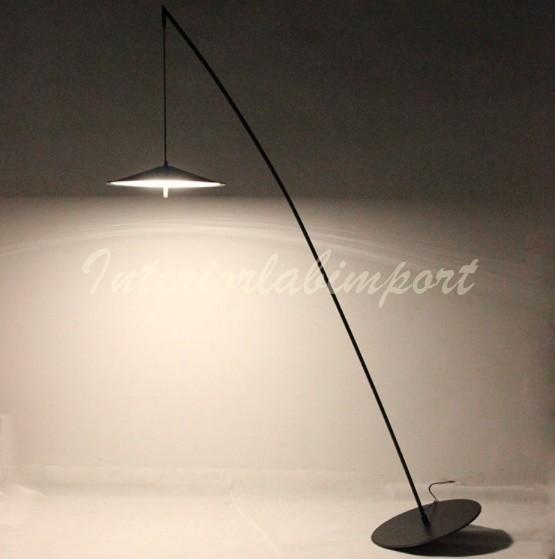 北欧 デザインインテリア フロアライト ヴィラインテリア デザインランプ 間接照明  ブラック スタンドライト
