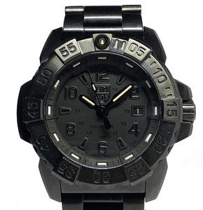 新品同様 ルミノックス 時計 3250 LX-200 ブラック 3250シリーズ ネイビーシールズ LUMINOX メタルブレス クォーツ ブラックコーティング