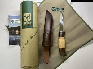 【送料込】HELLE harding ナイフ B 新品 ヘレナイフ ハーディング サバイバルナイフ 狩猟等 渓流 キャンプ ハンティングナイフ