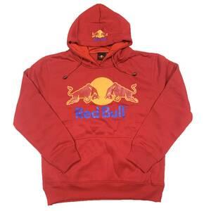 Red Bull レッドブル ベーシックロゴ プルオーバーパーカー (レッド) (L) [並行輸入品]
