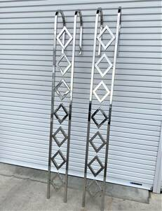 new goods immediate payment!* made of stainless steel cab ..*. shape 25 angle pipe 2.2M ladder 2 pcs set large retro deco truck Event S0113S