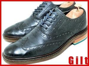 即決★良品 COLE HAAN★25cm レザードレスシューズ コールハーン メンズ 7M 黒 ブラック ビジネス 革靴 皮靴
