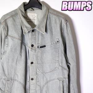 ボルコム VOLCOM デニムカバーオール ジャケット メンズ L アウター ジャンパー 古着 MNO-6-6-0005