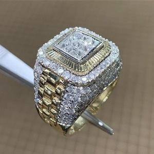 【☆高品質・即決価格74000円】新品 18kイエローゴールドGP ダイヤモンドcz カレッジリング指輪 15.3グラム 選べるサイズ 上質 高級感