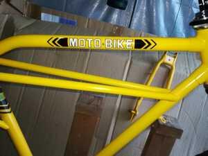 ヤマハ モトバイク MB3用トップチューブデカール ステッカー ホワイトロゴ 検MB1