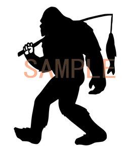 【送料無料】釣り シルエット カッティングステッカー2/12cm×8.9cm FISHING/フィッシング/バス/ 車 クーラーボックス
