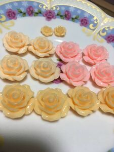 ハンドメイドパーツ薔薇ビーズ ネイルチップ