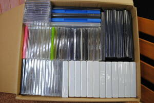 sa40 * DVD*CD empty case / approximately 80 point / plastic case / storage / condition various / empty case / set sale / white / clear / black / blue