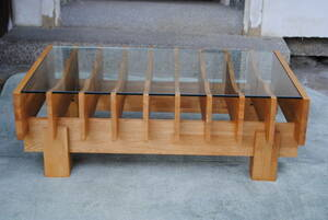sa391 simple table / natural / furniture / stylish / interior / strengthen glass / wooden / table