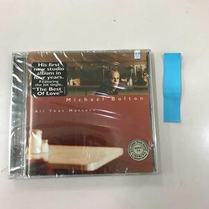 CD 輸入盤未開封【洋楽】長期保存品 Michael Bolton All That Matters