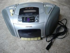 aiwa アイワ CDラジカセ CSD-ES155 コンパクトディスク ステレオ ラジオカセット レコーダー CD ラジオ カセット デッキ