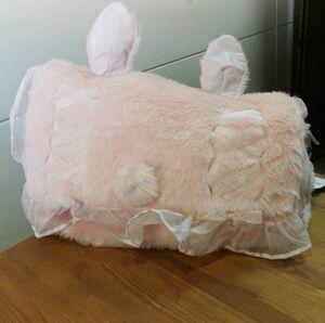 スワンキス Swankiss うさぎさん ウサギ ショルダー バッグ うさ耳 大きめ BIG ふわふわ pink ピンク