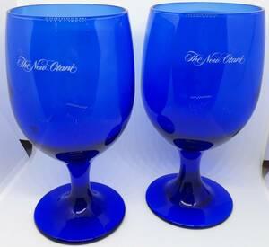 ニューオータニ ワイングラス ペア ペアグラス セット ブルー 青 コップ 箱付き ノリタケ 食器 インテリア 1127-01