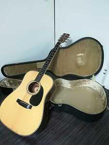 (稀少、コレクション)Morris 縦ロゴ アコースティックギター W-30 / モーリス ジャパンヴィンテージケース付き (中古現状)