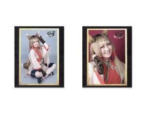 元NMB48 矢倉楓子 舞台 「剣が君 - 残桜の舞-」 キャストランダムブロマイド 2枚セット