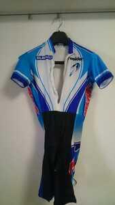自転車 競輪 ナショナルチーム競技用ワンピースユニホーム サイズ3L(使用済み) 日本代表 ロード トラック スキンスーツ 半袖