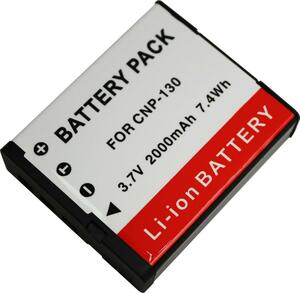 TKG) NP-130/NP-130A カシオ リチウムイオン充電池 互換品 EX-ZR4100 / EX-ZR1800 などに対応