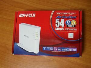BUFFALO WCR-G54-SBM(無線LANブロードバンドルーター)