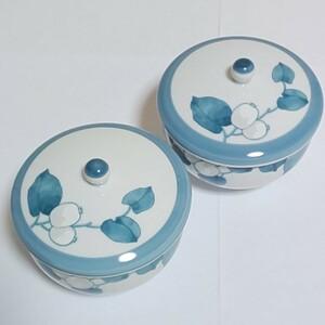 【Noritakeノリタケ】露染シリーズ 蓋付き湯呑 食器 陶磁器 和食 露草 乃りたけ