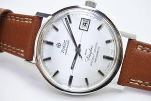 ☆☆☆130年以上スイス老舗 Zodiac 1970年代製造クロノメーター Kingline 36000振動自動巻紳士腕時計 ハック機能高級時計 未使用保管品