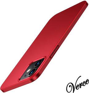 TORRAS iPhone 12 / iPhone 12 Pro 用ケース 6.1インチ 薄型 マット質感 ガラスフィルム付属 さらさら肌触り レッド Wisdom Series