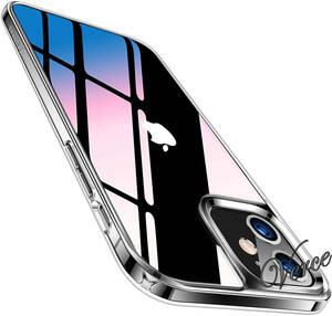 TORRAS 強化ガラス iPhone 12 mini 用 ケース 5.4インチ 高透明 9H硬度 TPUバンパー 三層構造 黄変防止 耐衝撃 クリア Fancy Series