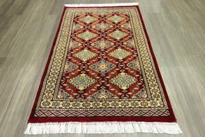 SALE 最高級カーペット パキスタン手織り絨毯 インテリアラグ 玄関マット アクセントラグ 80x125cm #930