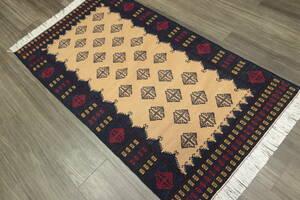 NEW アフガニスタン トライバルラグ 手織りキリム アクセントラグ 84x150cm #242