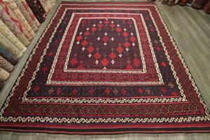 結晶モチーフが素敵なマイマナキリム アフガニスタン トライバルラグ オールド手織りキリム ヴィンテージ 248x290cm #666