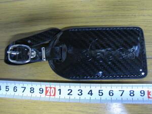 ◆新品 JADO ジャド ネームプレート 純正品 カーボンメッシュ黒(BK)エナメル素材ネーム彫刻可 送料140~