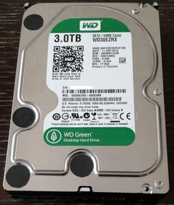 【良品】Western Digital Green 3.5型HDD WD30EZRX :3TB×1台【CrystalDiskInfo 正常】