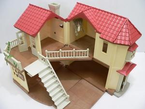 [り2-12]シルバニア ファミリー あかりの灯る大きなお家 別売りランプ おまけ付き 人形遊び プレゼント ミニチュア ドールハウス
