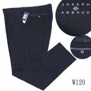 d183 新品 2.3万 JOSEPH ABBOUD(ジョセフアブード) コットンピケ パンツ ノータック ストレッチ スラックス 高級 キングサイズ 黒w120