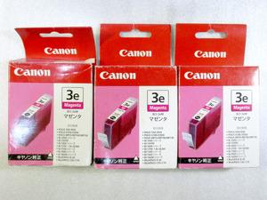CANON★キャノン 3e マゼンタ 3本 プリンター用インク 未使用 純正品★S7762-2
